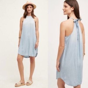 ANTHRO Cloth & Stone Casual Chambray Dress NWT